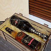 Сувениры и подарки ручной работы. Ярмарка Мастеров - ручная работа Ящик под вино. Handmade.
