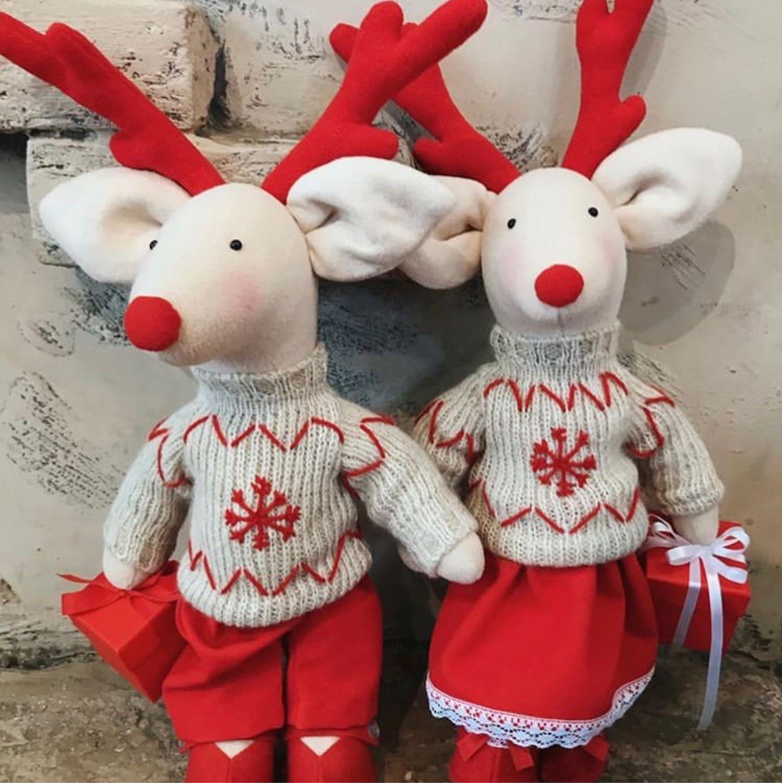 Олени новогодние, Куклы Тильда, Екатеринбург,  Фото №1