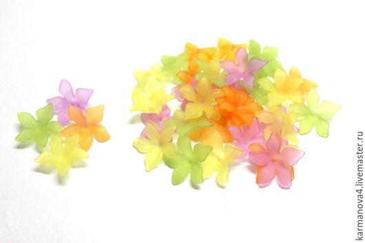 Акриловые цветочки для одежды кукол и игрушек Акриловые цветочки для бижутерии Локоны Кудри для кукол Волосы для кукол купить Handmade Ярмарка Мастеров