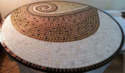 """Мебель ручной работы. Ярмарка Мастеров - ручная работа. Купить Мозаика,Стол обеденный """"Шоколадный микс"""". Handmade. Комбинированный, столовая"""
