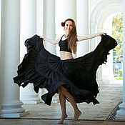 Одежда ручной работы. Ярмарка Мастеров - ручная работа Юбка трайбл черная. Handmade.