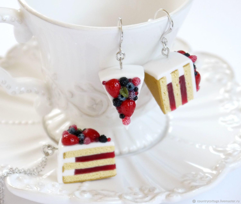 'Berry cake ' pendant and earrings, Jewelry Sets, Troitsk,  Фото №1
