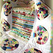 Для дома и интерьера ручной работы. Ярмарка Мастеров - ручная работа Лоскутное покрывало Круги. Handmade.