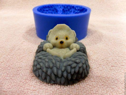 """Другие виды рукоделия ручной работы. Ярмарка Мастеров - ручная работа. Купить Силиконовая форма для мыла """"Маленький ёжик"""". Handmade."""