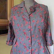 Одежда ручной работы. Ярмарка Мастеров - ручная работа Жакет с баской, для женщин. Handmade.
