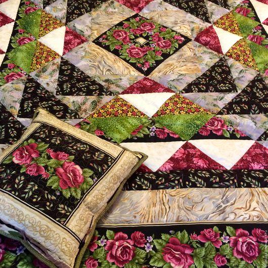 """Текстиль, ковры ручной работы. Ярмарка Мастеров - ручная работа. Купить """"Вечер на  веранде""""  лоскутный плед. Handmade. Пэчворк, лоскутные"""