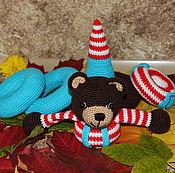 """Мягкие игрушки ручной работы. Ярмарка Мастеров - ручная работа Вязаная пирамидка """"Мишутка"""". Handmade."""