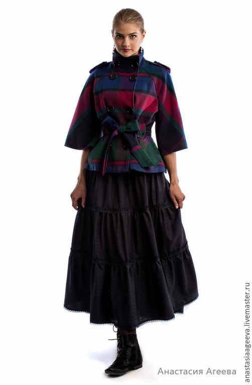 """Юбки ручной работы. Ярмарка Мастеров - ручная работа. Купить Ярусная юбка """"Глория"""" с кружевом и декоративной лентой.. Handmade."""
