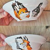 Посуда ручной работы. Ярмарка Мастеров - ручная работа Детский набор посуды с лисами (6 предметов). Handmade.