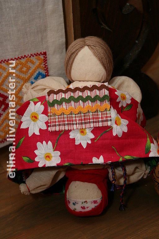 Человечки ручной работы. Ярмарка Мастеров - ручная работа. Купить Девка-Баба. Handmade. Кукла, подарок на новый год, ситец, шерсть