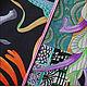 """Шали, палантины ручной работы. Платок из натурального шёлка """"Марш Замбии"""" Hermes. Lady AKT. Интернет-магазин Ярмарка Мастеров."""