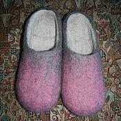Обувь ручной работы. Ярмарка Мастеров - ручная работа Валяные тапочки в эко стиле. Handmade.