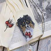 """Аксессуары ручной работы. Ярмарка Мастеров - ручная работа Перчатки с росписью """"Моя собака"""". Handmade."""