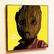 Картины и панно handmade. Livemaster - original item Picture Poster Little Groot