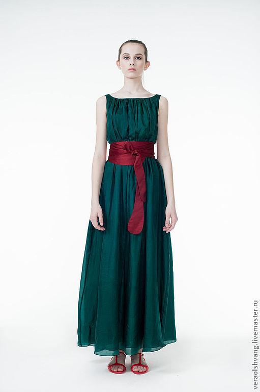 Платья ручной работы. Ярмарка Мастеров - ручная работа. Купить Шелковое длинное платье. Handmade. Рыжий, платье на выпускной