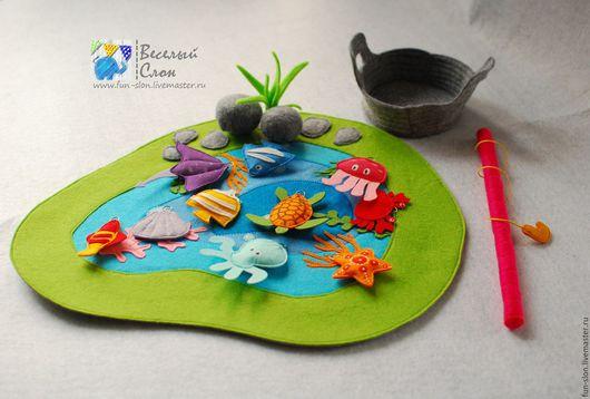 Развивающие игрушки ручной работы. Ярмарка Мастеров - ручная работа. Купить Магнитная рыбалка Развивающая игра из фетра. Handmade.