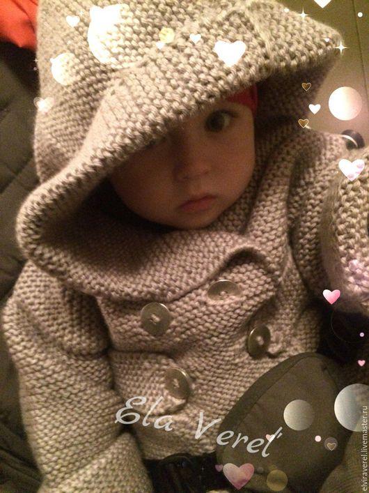 Одежда для мальчиков, ручной работы. Ярмарка Мастеров - ручная работа. Купить Вязаная куртка для малыша ''МИГЕЛЬ''. Handmade. Серый