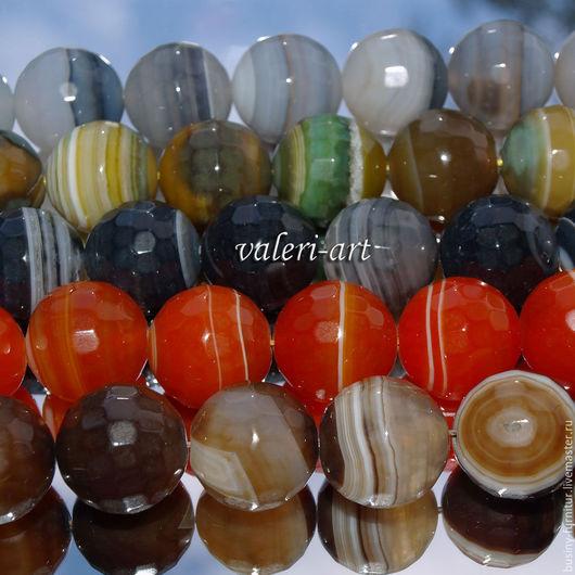 Для украшений ручной работы. Ярмарка Мастеров - ручная работа. Купить Бусины из агата 20 мм шар. 5 цветов. Handmade.