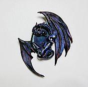 """Фен-шуй и эзотерика ручной работы. Ярмарка Мастеров - ручная работа Амулет  на удачу """"Синий Дракон"""" (Бронь). Handmade."""