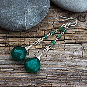 Украшения handmade. Livemaster - original item Silver earrings with emeralds