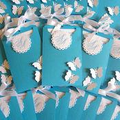 Свадебный салон ручной работы. Ярмарка Мастеров - ручная работа Приглашение-конверт на свадьбу в голубой гамме. Handmade.
