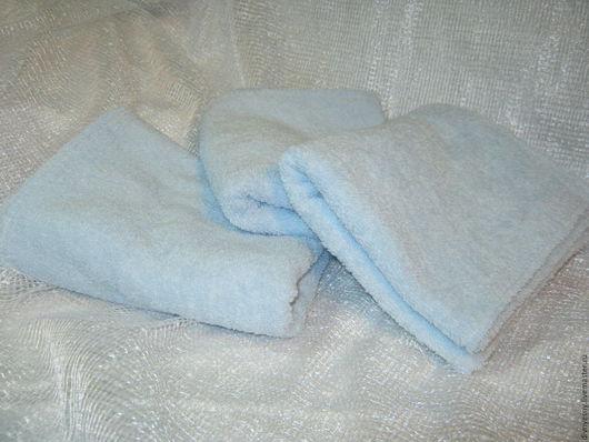 Банные принадлежности ручной работы. Ярмарка Мастеров - ручная работа. Купить Комплект махровых полотенец. Handmade. Голубой, баня