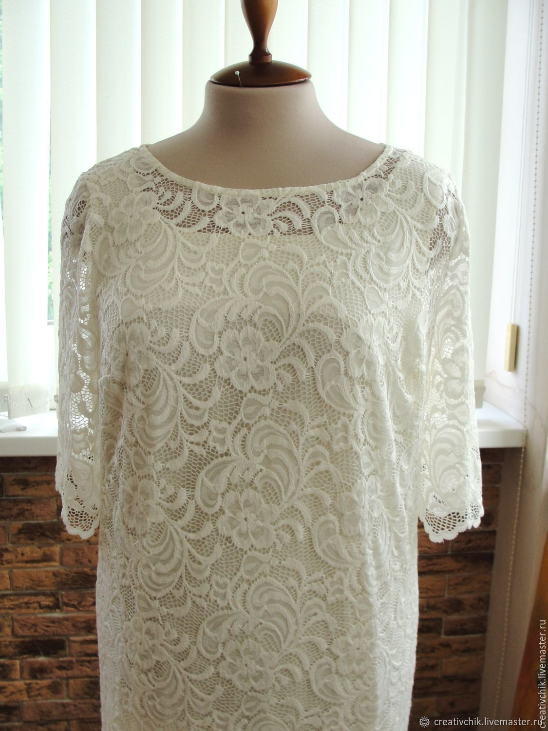 Lace dress Whipped cream bottom dress cotton, Dresses, Volgograd,  Фото №1