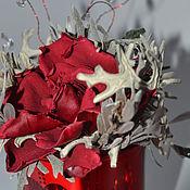 Цветы и флористика ручной работы. Ярмарка Мастеров - ручная работа Роскошная  Красная Гардения. Handmade.