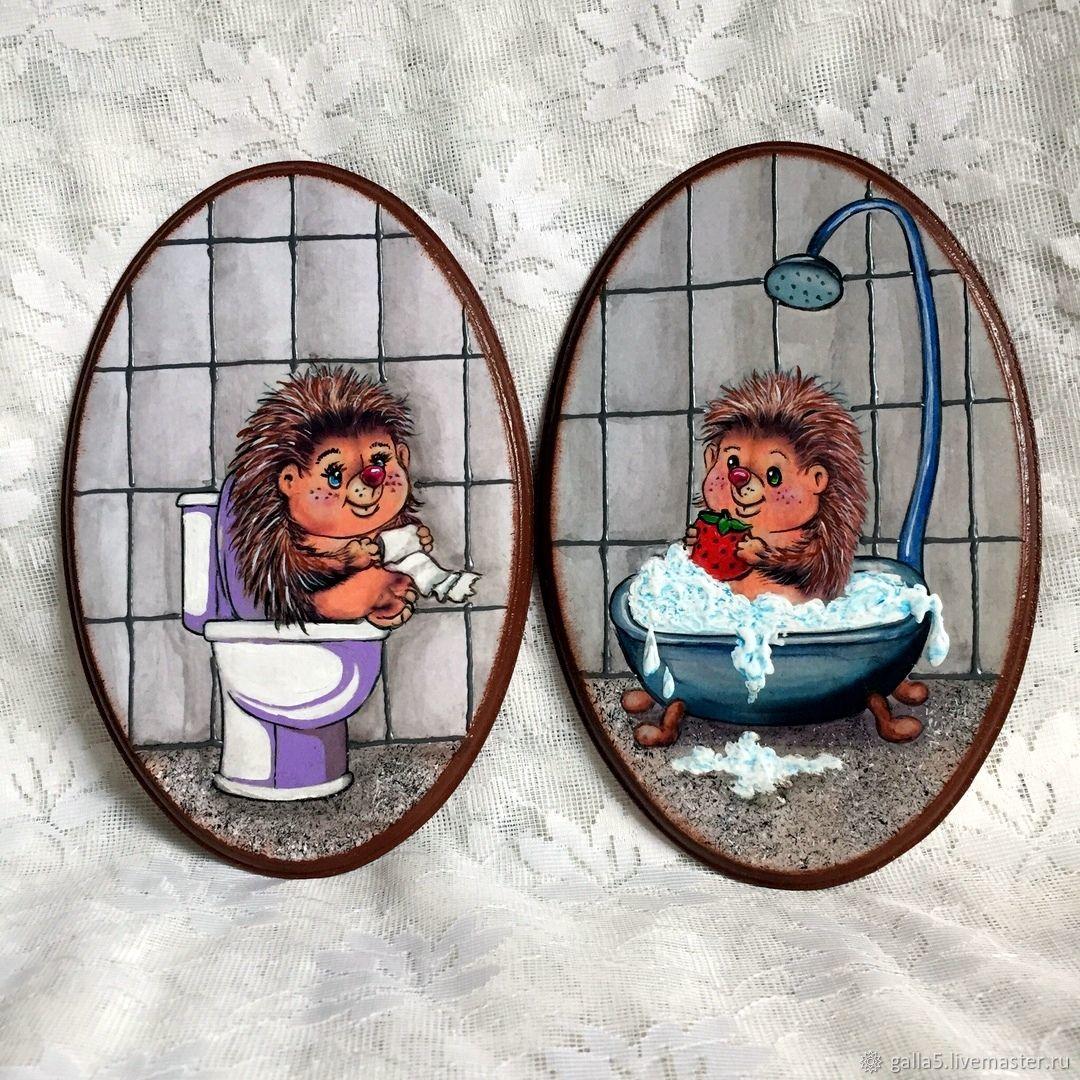 Прикольные картинки на дверь туалета и ванны