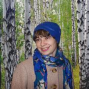 Аксессуары ручной работы. Ярмарка Мастеров - ручная работа Валяный комплект шапка и шарф Яркое настроение. Handmade.