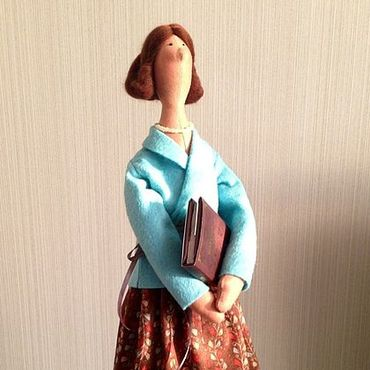 Куклы и игрушки ручной работы. Ярмарка Мастеров - ручная работа Учительница первая моя. Handmade.