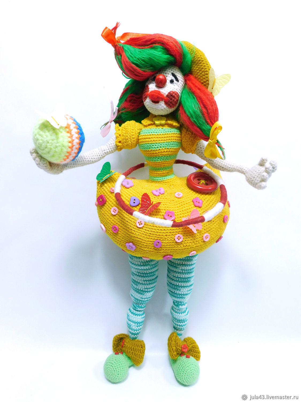 Человечки ручной работы. Ярмарка Мастеров - ручная работа. Купить Вязаная кукла Клоунесса. Handmade. Вязание крючком, настроение