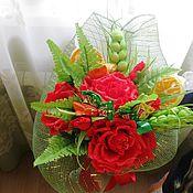 Цветы и флористика ручной работы. Ярмарка Мастеров - ручная работа Букет из красных роз. Handmade.