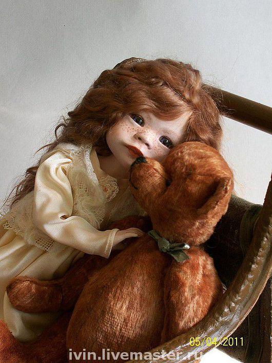 """Коллекционные куклы ручной работы. Ярмарка Мастеров - ручная работа. Купить """"Уронили мишку на пол..""""Шарнирная кукла Николь. Handmade."""