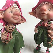 Куклы и игрушки ручной работы. Ярмарка Мастеров - ручная работа Патрик и Оливия. Handmade.