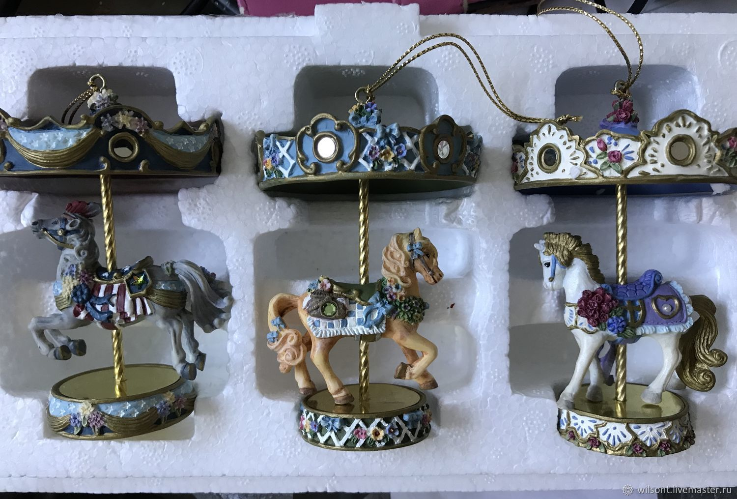 Vintage carousel set,limited edition,horses with certificate, Vintage toy, Coventry,  Фото №1