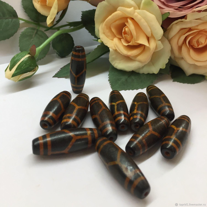 Бусина Дзи – Черепаха черный Агат, Бусины, Краснодар, Фото №1
