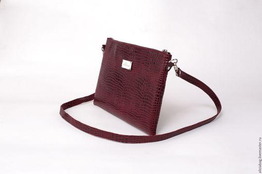 Женские сумки ручной работы. Ярмарка Мастеров - ручная работа. Купить Натуральная кожа сумочка 19 бордовая. Handmade.