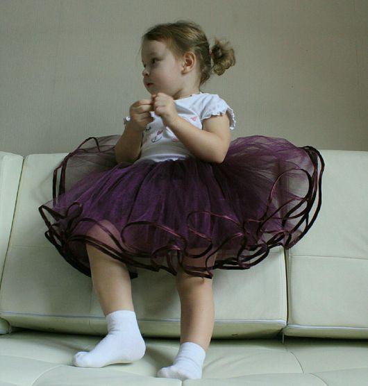 """Одежда для девочек, ручной работы. Ярмарка Мастеров - ручная работа. Купить Пышная юбка """"Слива"""". Handmade. Юбка пачка"""