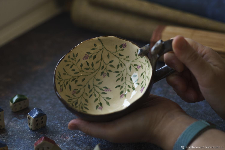 "Чашка ""Соловьиный сад на рассвете"", Кружки и чашки, Тула,  Фото №1"