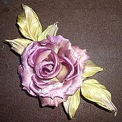 Украшения handmade. Livemaster - original item Silk flowers. Decoration brooch pin ROSE BEAUTY.. Handmade.