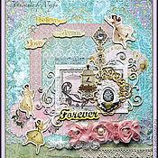 Канцелярские товары ручной работы. Ярмарка Мастеров - ручная работа Фотоальбом в романтическом стиле. Handmade.