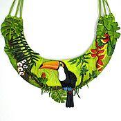 Украшения handmade. Livemaster - original item Necklace in leather