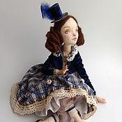 Куклы и игрушки ручной работы. Ярмарка Мастеров - ручная работа Девочка в синей шляпке. Handmade.