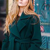 """Одежда ручной работы. Ярмарка Мастеров - ручная работа Пальто-халат с поясом """"Изумруд"""". Handmade."""