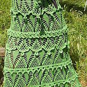 "Одежда ручной работы. Ярмарка Мастеров - ручная работа Вязаная юбка ""Водопад травы"". Handmade."
