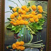 Картины ручной работы. Ярмарка Мастеров - ручная работа Одуванчики в вазе. Handmade.