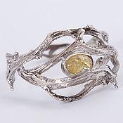 Украшения handmade. Livemaster - original item Ring of twigs with a stone. Handmade.