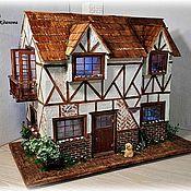 Кукольные домики ручной работы. Ярмарка Мастеров - ручная работа Двухэтажный, миниатюрный дом. Handmade.