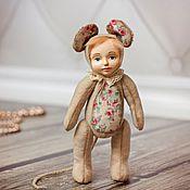 Куклы и игрушки ручной работы. Ярмарка Мастеров - ручная работа Мышка Тося. Тедди долл. Handmade.